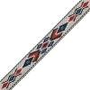 Woven Braid-hitched 5Ft 0.75in/19mm White//blue